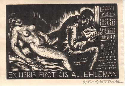 JOSEF HODEK. 1926. Dřevoryt (wood engraving); sign.