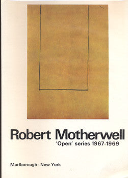 1969. Robert Motherwell. 'Open' series 1967 - 1969.
