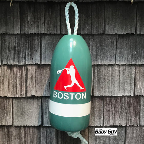 Decorative Hanging Maine Lobster Buoy - Boston Baseball Red Triangle