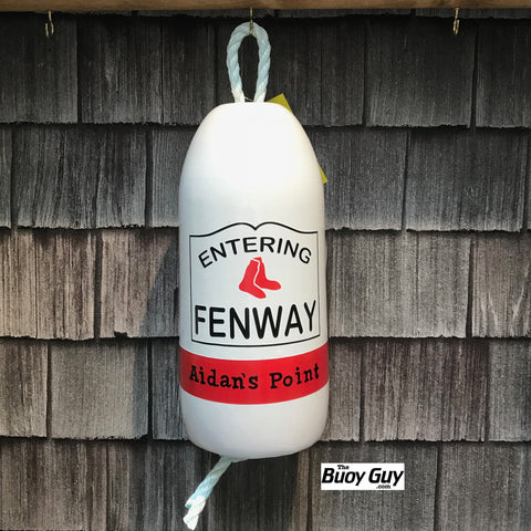 Decorative Hanging Maine Lobster Buoy - Entering Fenway