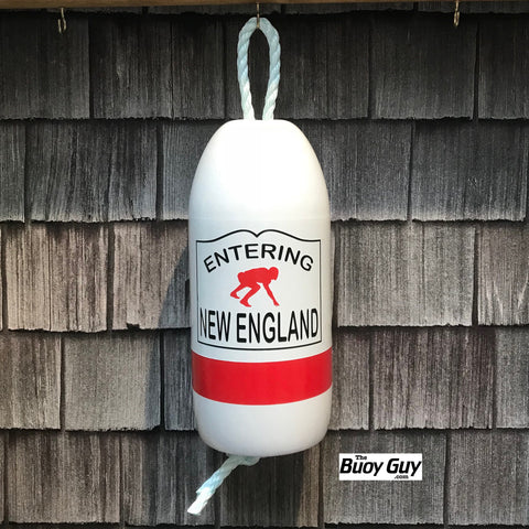 Decorative Hanging Maine Lobster Buoy - Entering New England Football Player