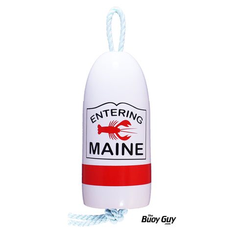 Decorative Hanging Maine Lobster Buoy - Entering Maine Sign Red Lobster