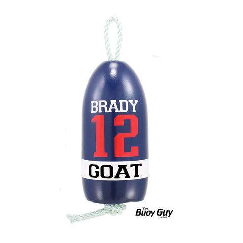 Decorative Hanging Maine Lobster Buoy - Navy White Red Brady #12 GOAT