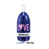 Decorative Hanging Maine Lobster Buoy - Navy Pink White LOVE Valentines
