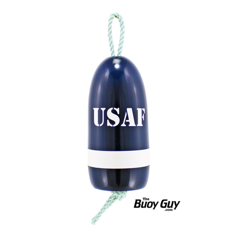Decorative Hanging Maine Lobster Buoy - Navy Blue White United States Air Force USAF