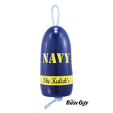 Decorative Hanging Maine Lobster Buoy - Navy Blue Yellow United States Navy USN