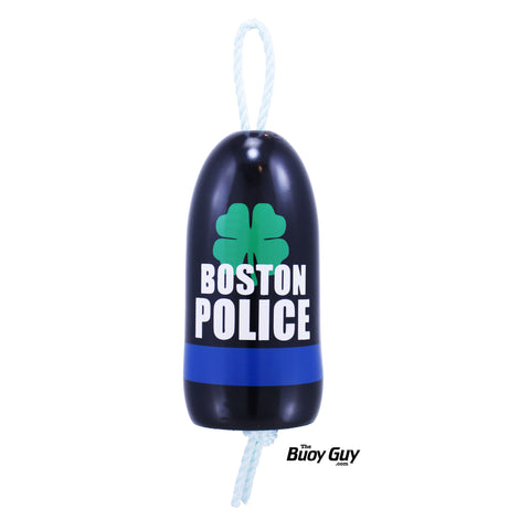 Decorative Hanging Maine Lobster Buoy - Boston Police Clover