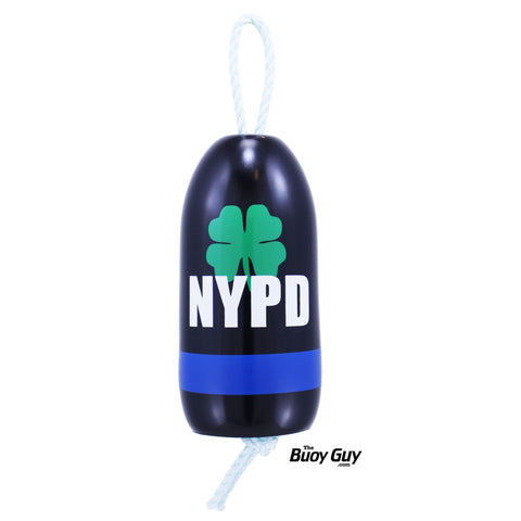 Decorative Hanging Maine Lobster Buoy - NYPD Police Clover