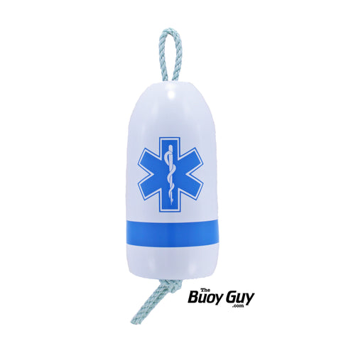 Decorative Maine Hanging Lobster Buoy - Star of Life Paramedic Emergency Medical Technician EMT