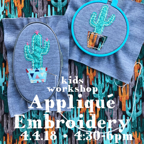 Appliqué Embroidery Kids Workshop