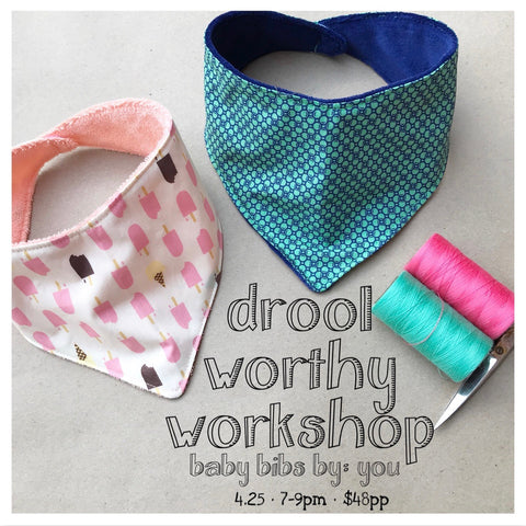 Baby Bibs by You ~ A Drool Worthy Workshop