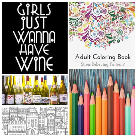 Adult Coloring & Wine Night