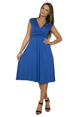 WozWoz Maternity Women's Sleeveless Knee Length Summer Dress