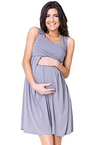 WozWoz Maternity Women's Sleeveless Knee Length Dress