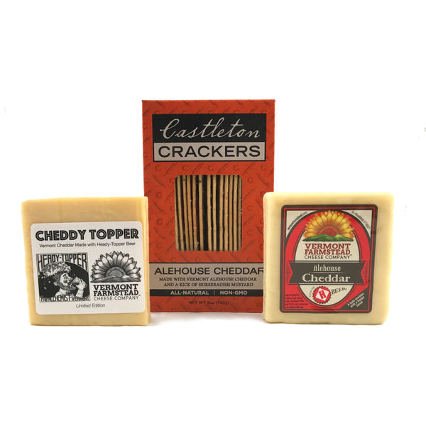 Alehouse Cheddar Dynamic Duo - Cheddy Topper & Our Classic Alehouse Cheddar