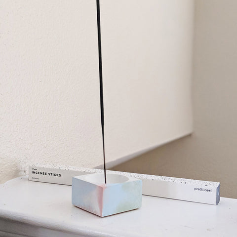 Square Marble Incense Holder