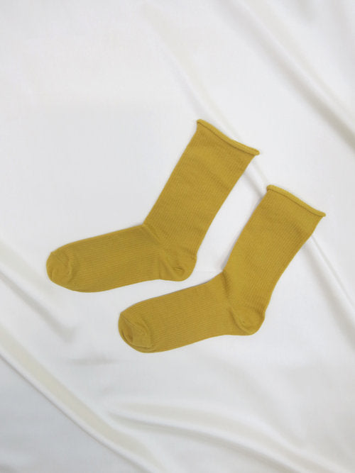 Olive Green Drop Socks