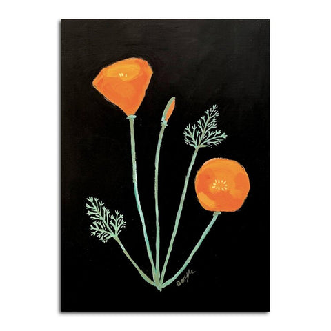 California Poppy Postcard