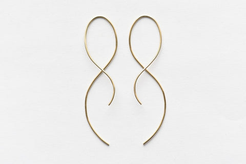 Large Gold Infinity Hook Earrings