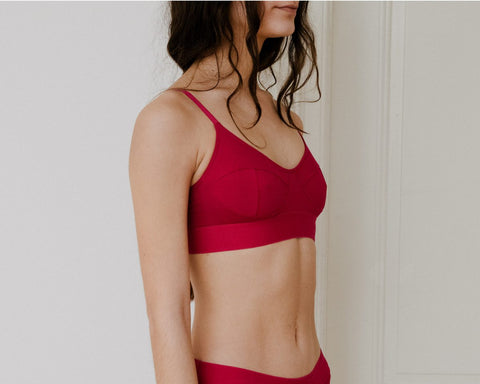 Red Bamboo Soft Bra