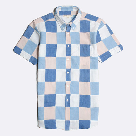 Patchwork Check Mod Button Down