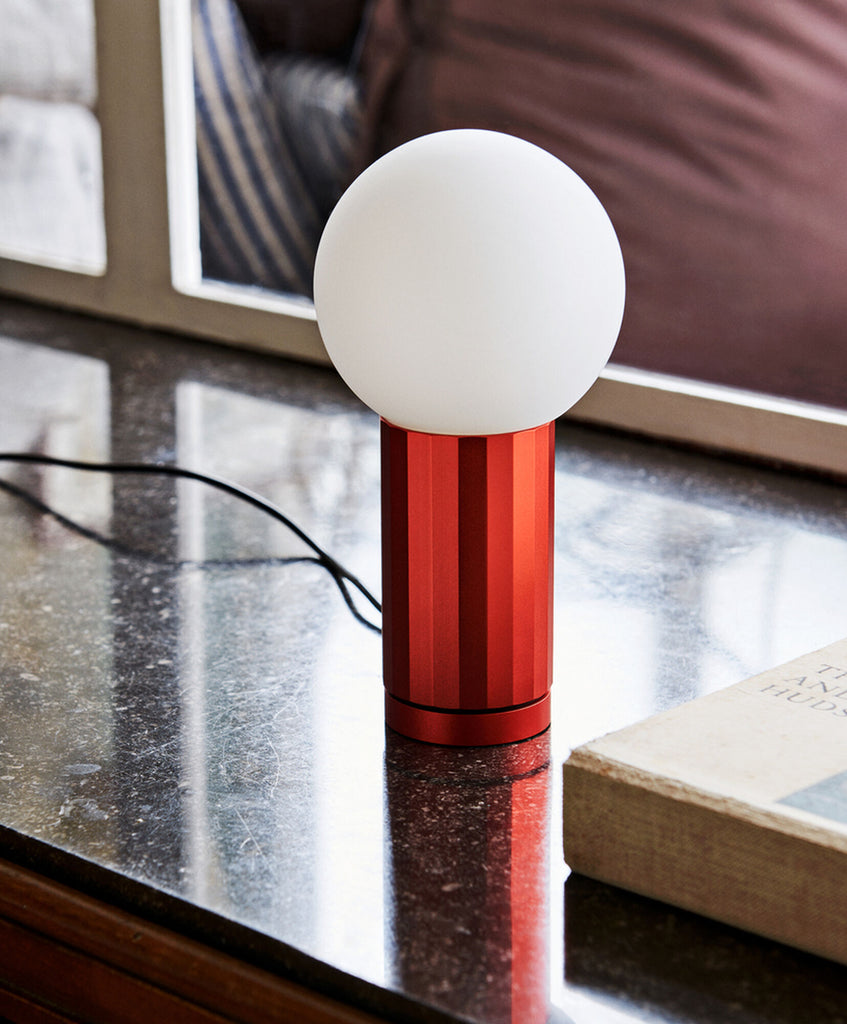 Orange Turn On Table Lamp