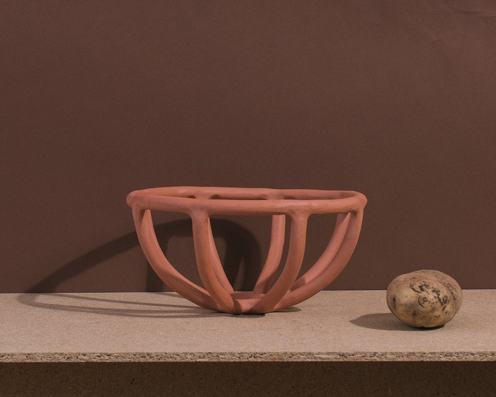 Terracotta Prong Bowl