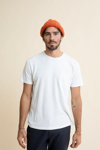 Washed White Baja Pocket Tee