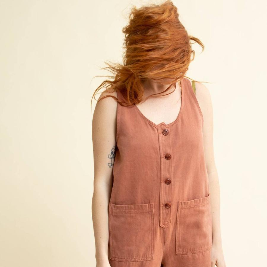 Terracotta Button Front Jumper