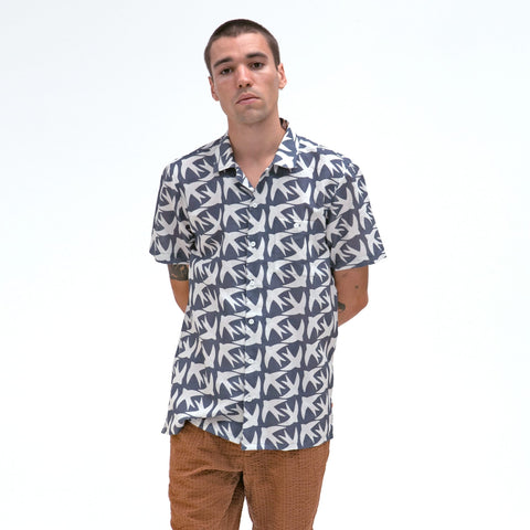 Blue Swallow Selleck Short Sleeve Shirt