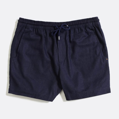 Blue Linen House Shorts