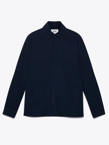 Navy Babycord Bampton Shirt