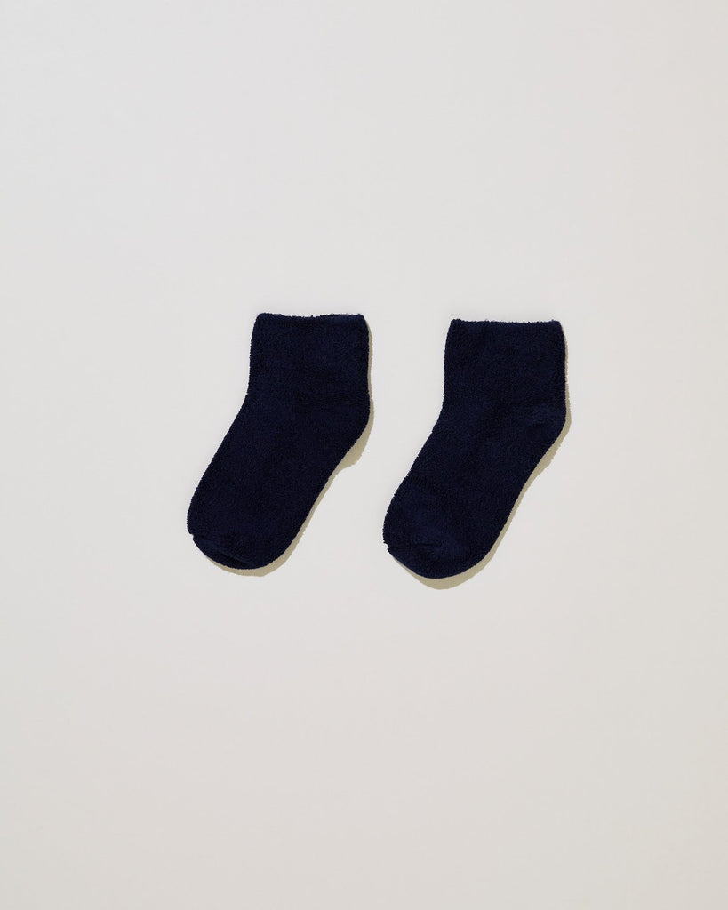 Blue Buckle Ankle Sock