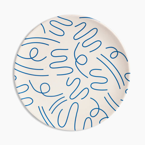 Bamboo Dinner Plate Set in Doodles