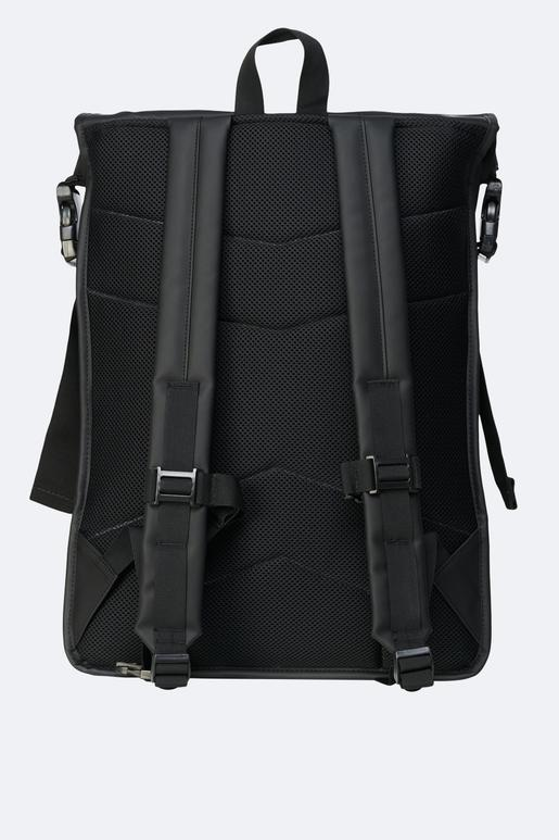 Black Buckle Roll Top Backpack