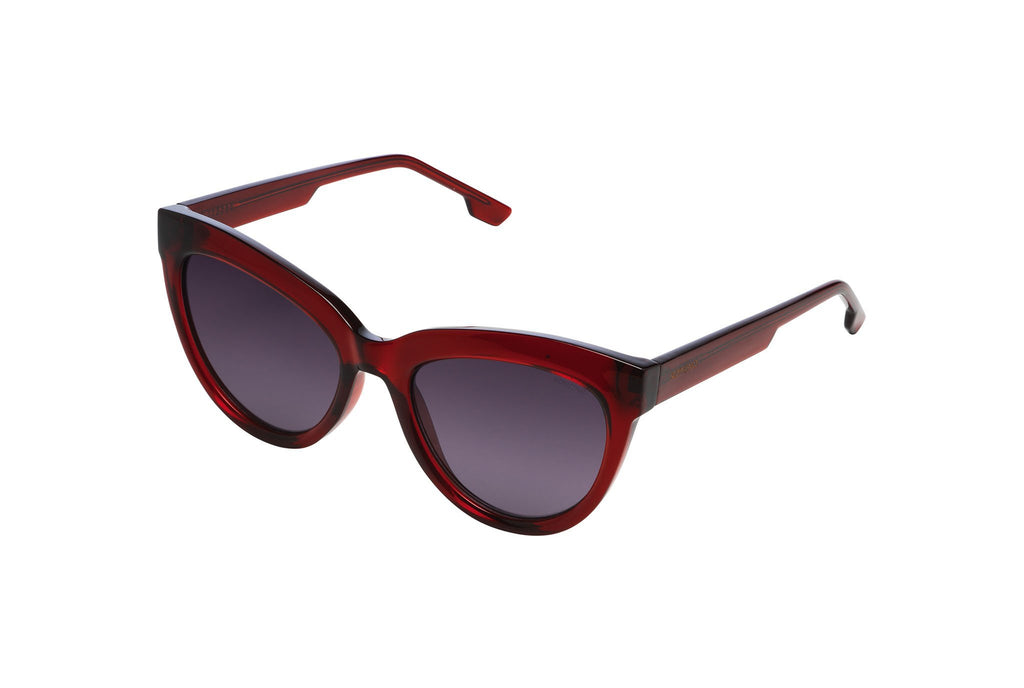Burgundy Liz Sunglasses