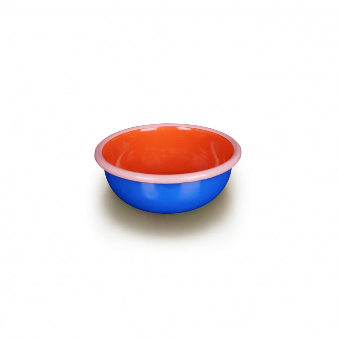 Blue/Coral and Pink Bowl