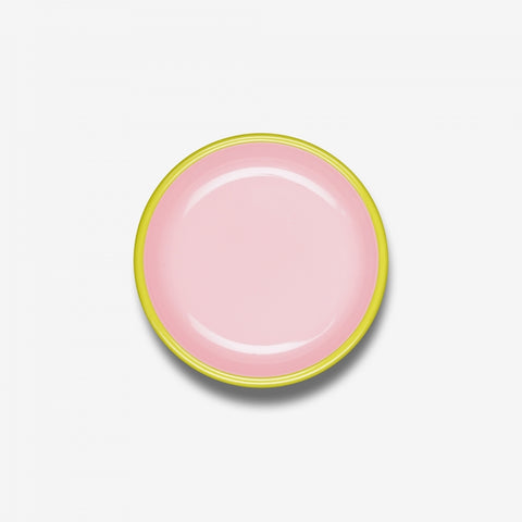 Pink Enamel Lunch Plate
