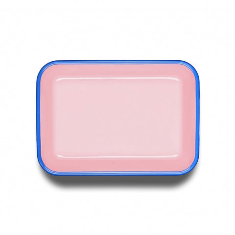 Pink/Blue Large Rectangle Dish