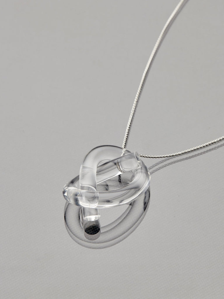 Clear Knot Necklace