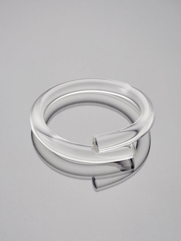 Clear Lucite Rod Bangle