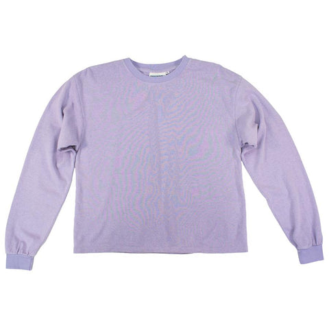 Misty Lilac Cropped Long Sleeve Tee