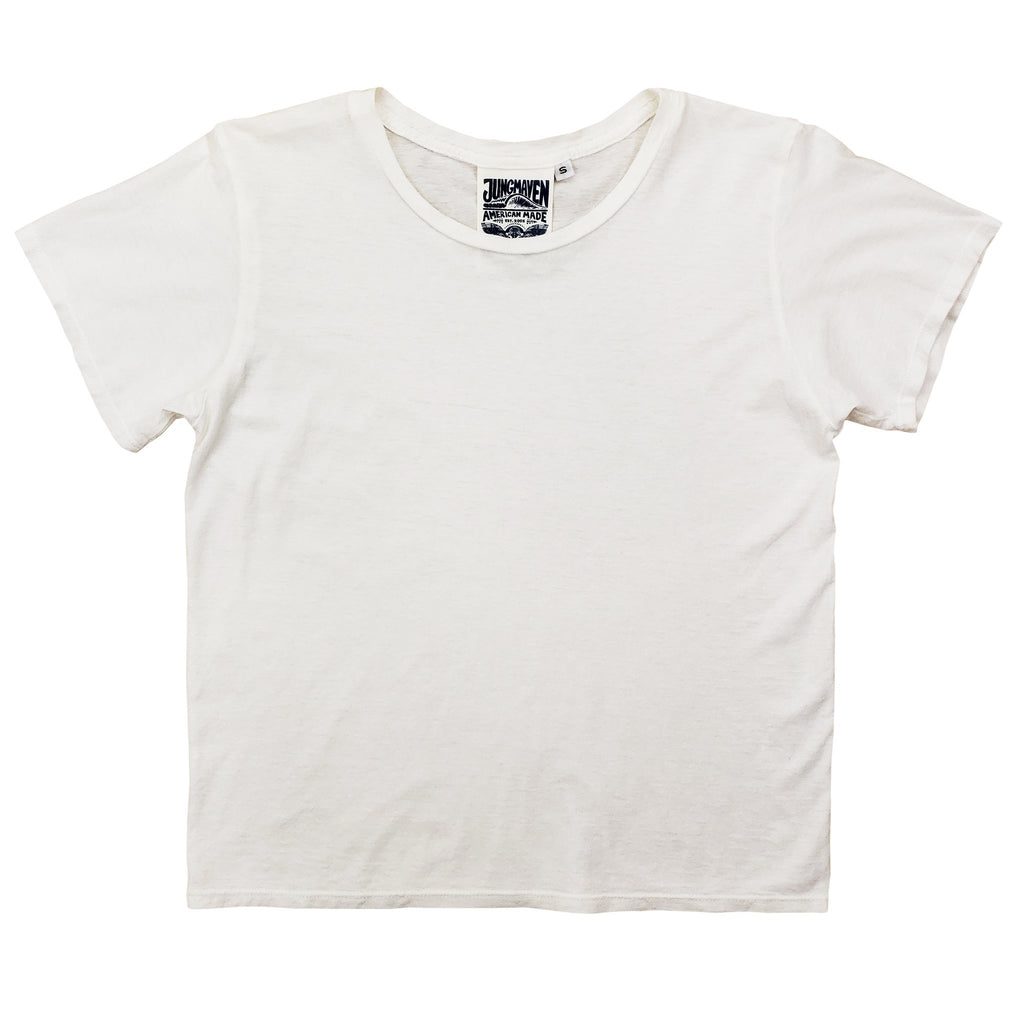 Washed White Cropped Ojai Tee