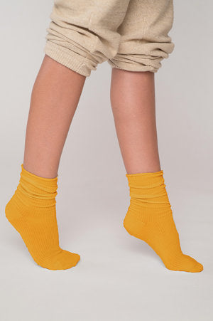 Sunny Orange Drop Socks