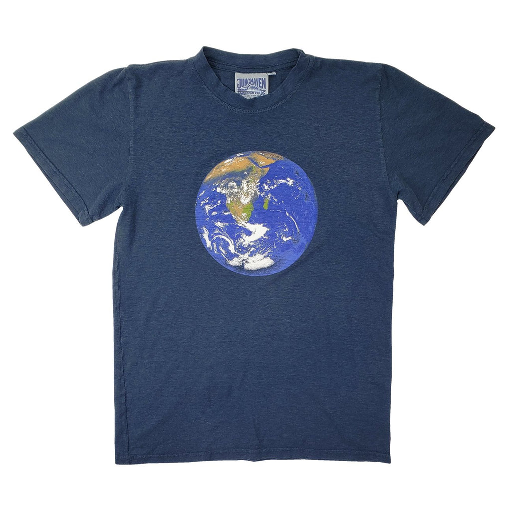 Navy Earth Flag Jung Tee