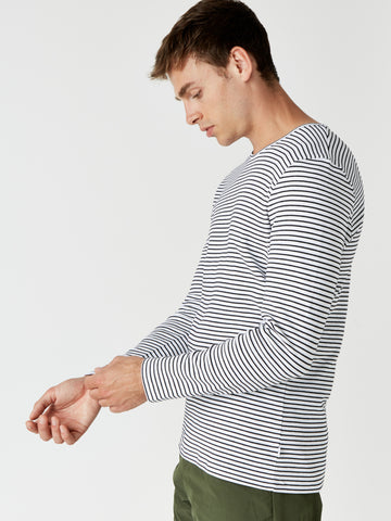 White Finham Long Sleeve T-Shirt