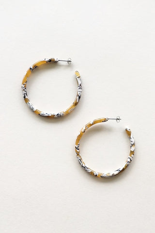 Calico Large Hoops
