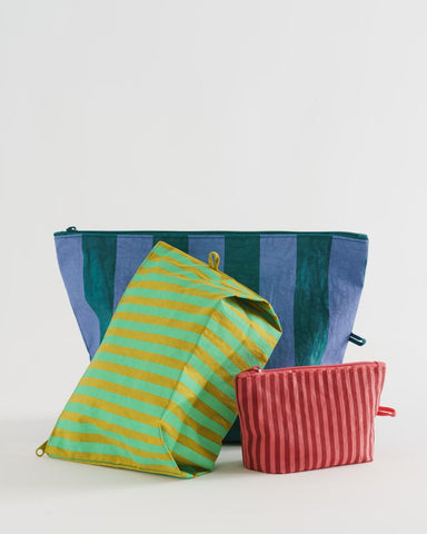 Afternoon Stripes Go Pouch Set