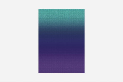 Teal/Blue/Purple Gradient 1,000 Piece Puzzle