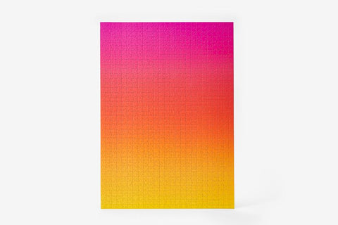 Pink/Yellow/Orange Large Gradient Puzzle